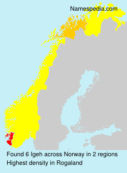 Surname Igeh in Norway