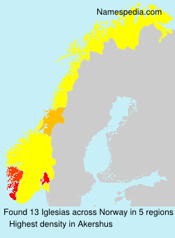Surname Iglesias in Norway