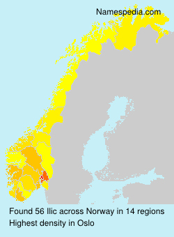 Surname Ilic in Norway
