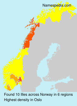 Familiennamen Illes - Norway