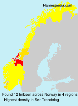 Surname Imbsen in Norway