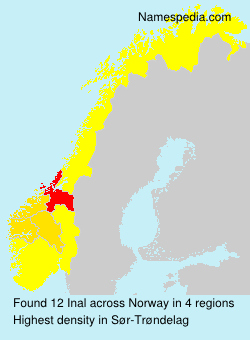 Familiennamen Inal - Norway