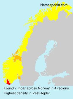 Familiennamen Inbar - Norway