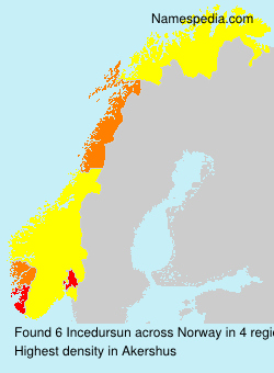 Surname Incedursun in Norway