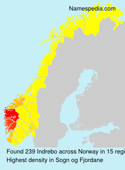 Surname Indrebo in Norway