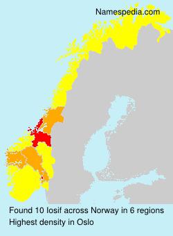 Surname Iosif in Norway