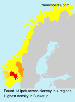 Surname Ipek in Norway
