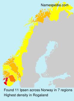 Familiennamen Ipsen - Norway