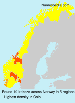 Surname Irakoze in Norway