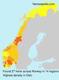 Surname Irene in Norway