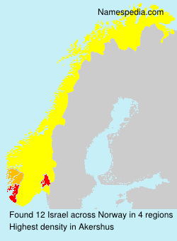 Surname Israel in Norway