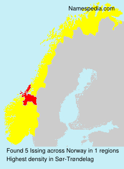 Surname Issing in Norway