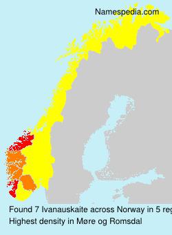 Surname Ivanauskaite in Norway