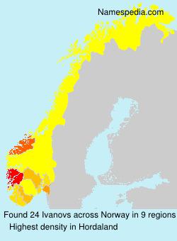 Surname Ivanovs in Norway