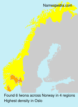Surname Iwona in Norway
