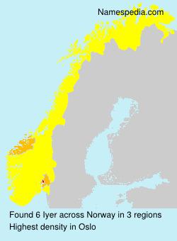 Surname Iyer in Norway