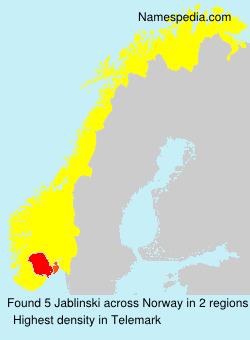 Familiennamen Jablinski - Norway