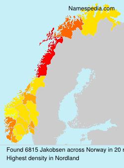 Surname Jakobsen in Norway