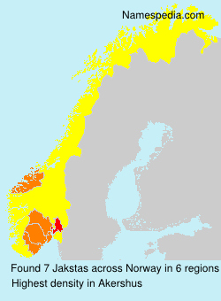 Surname Jakstas in Norway