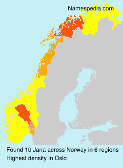 Surname Jana in Norway