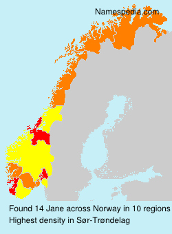 Surname Jane in Norway