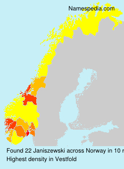 Surname Janiszewski in Norway