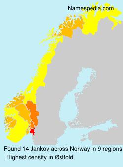 Familiennamen Jankov - Norway