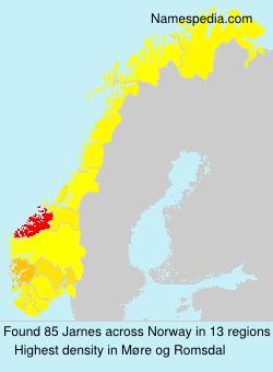 Familiennamen Jarnes - Norway