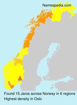 Surname Jaros in Norway