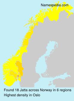 Surname Jatta in Norway