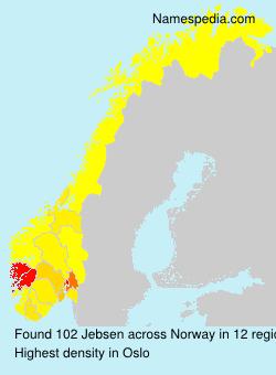 Surname Jebsen in Norway