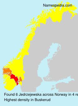 Surname Jedrzejewska in Norway