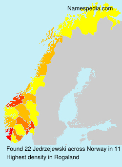 Surname Jedrzejewski in Norway