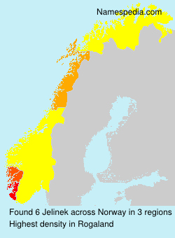 Surname Jelinek in Norway