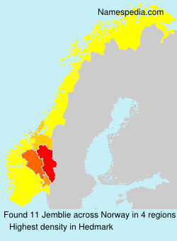 Surname Jemblie in Norway