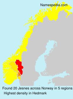 Familiennamen Jesnes - Norway
