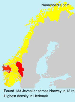 Surname Jevnaker in Norway