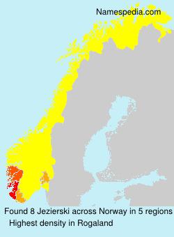 Surname Jezierski in Norway