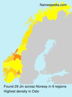 Surname Jin in Norway