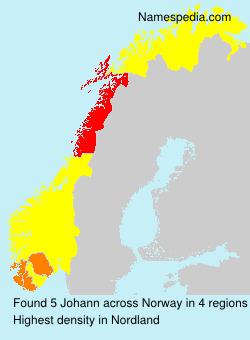 Surname Johann in Norway