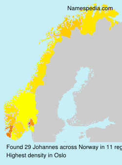 Surname Johannes in Norway