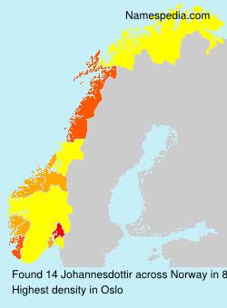 Surname Johannesdottir in Norway