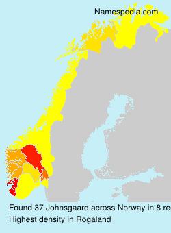 Surname Johnsgaard in Norway