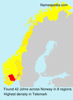 Surname Johre in Norway