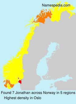 Familiennamen Jonathan - Norway