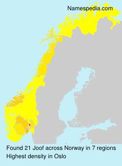 Surname Joof in Norway