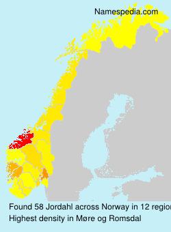 Surname Jordahl in Norway