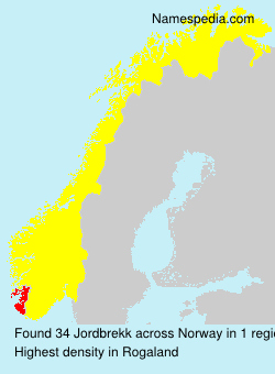 Surname Jordbrekk in Norway