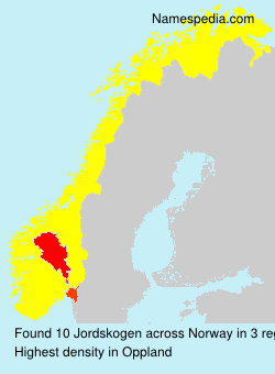 Surname Jordskogen in Norway