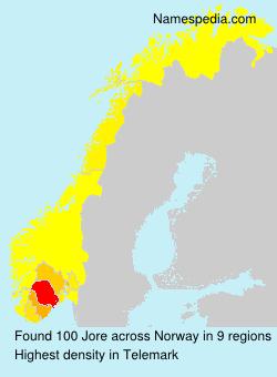 Familiennamen Jore - Norway